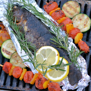Barbecue producten forel